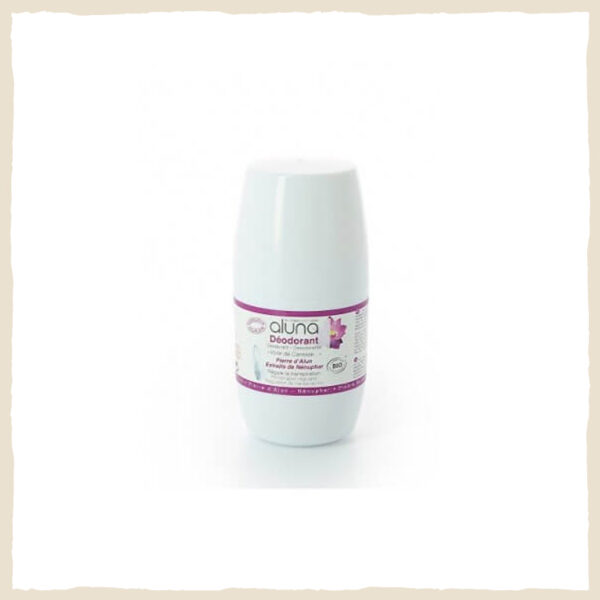 "Déodorant roll on bio alun ""Nénuphar voile de caresse"" 50 ML"